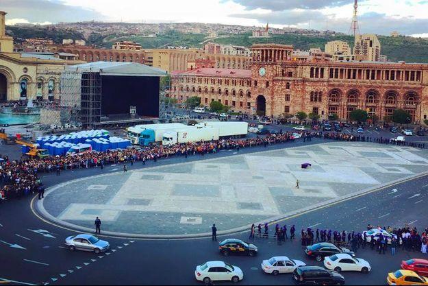 A Erevan, la ville se prépare pour les commémorations.