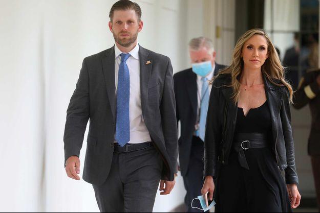 Eric Trump et sa femme Lara à la Maison-Blanche, en juin 2020.