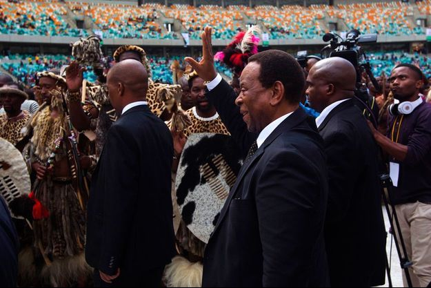 Goodwill Zwelithini, le roi des Zoulous, lors de son discours le 20 avril 2015.
