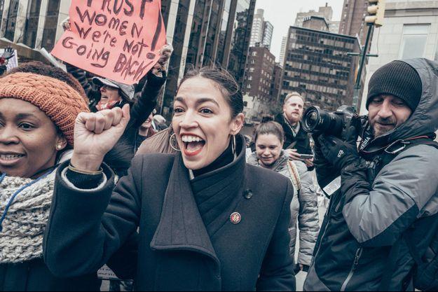 A la Women's March, à New York, le 19 janvier.