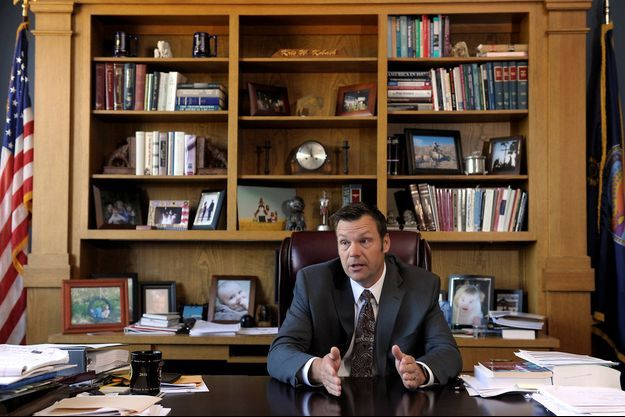 Kris Kobach, le secrétaire d'Etat du Kansas, photographié en juin 2016.