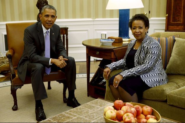 Loretta Lynch et Barack Obama.