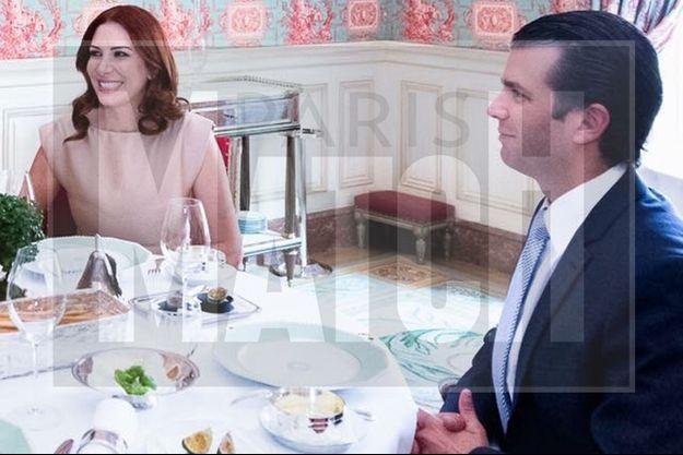 Randa Kassis et Donald Trump Jr à Paris, le 11 octobre dernier.