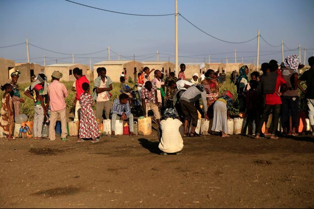 Des réfugiés éthiopiens ayant fui la région du Tigré se sont réfugiés dans le camp de Fashaga, à la frontière avec le Soudan.