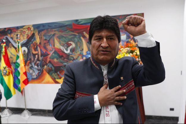 Evo Morales à La Paz, jeudi.