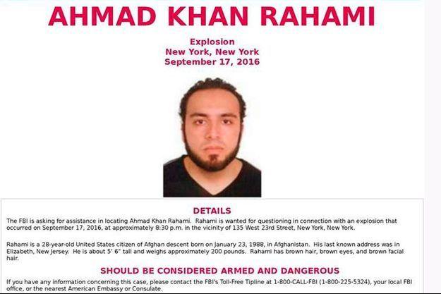 Ahmad Khan Rahami, le principal suspect.