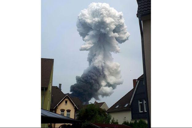 Explosion à Leverkusen, le 27 juillet.