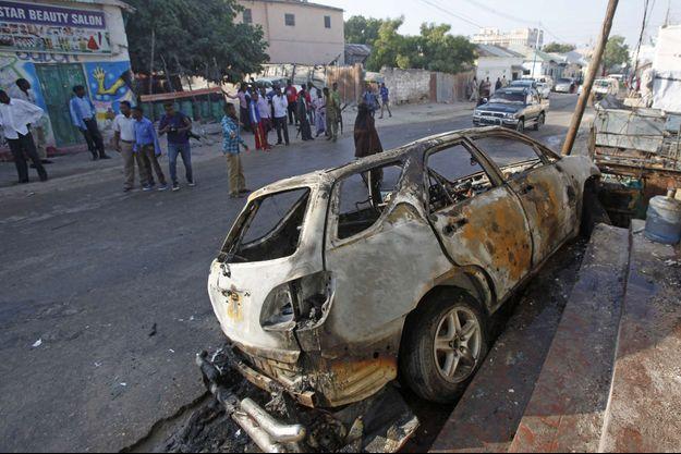 Explosion d'une voiture piégée à Mogadiscio, le 10 janvier dernier.