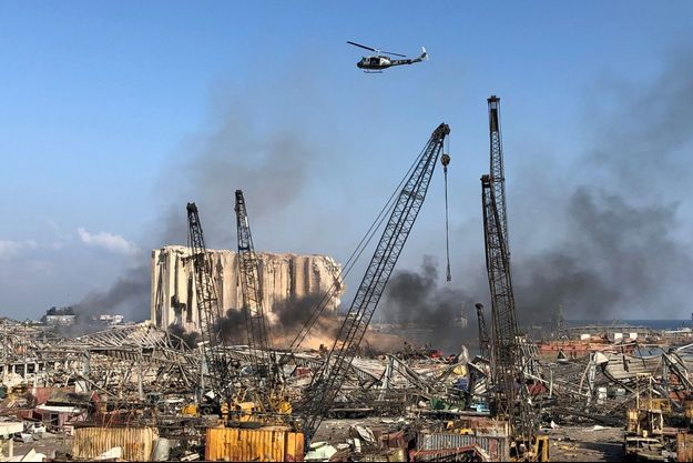 Beyrouth au lendemain des explosions meurtrières.