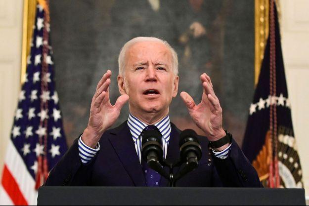 Joe Biden à la Maison-blanche samedi soir.