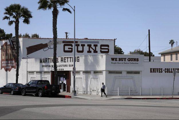 Point de vente d'armes à feu à Culver City, en Californie, en mars 2020.