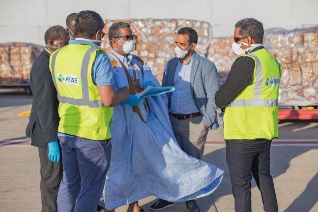 Le 4 avril 2020, une cargaison de matériel médical expédiée depuis le Gabon par la société Arise arrive en Mauritanie