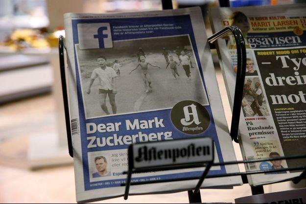 """Le grand quotidien """"Aftenposten"""" a remis en Une le célèbre cliché de Nick Ut pour lancer un appel à Facebook."""