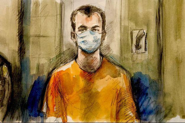 Nathaniel Veltman, 20 ans, a comparu pendant quelques minutes par visioconférence depuis sa prison.