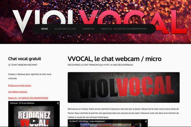 Capture d'écran du site ViolVocal, où opère Grégory Chelli, alias Ulcan.