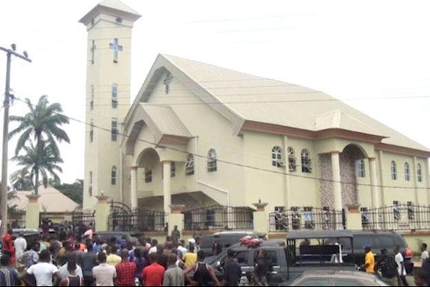L'église St Philippe d'Ozubulu, au Nigeria, sur une capture d'écran.