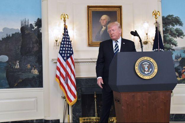 Le président des Etats-Unis Donald Trump s'est exprimé de la Maison Blanche à Washington.