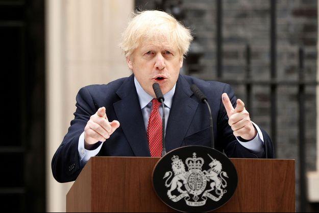 Boris Johnson le 27 avril 2020.