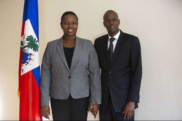 Martine Moïse et son époux Jovenel Moïse en novembre 2016.