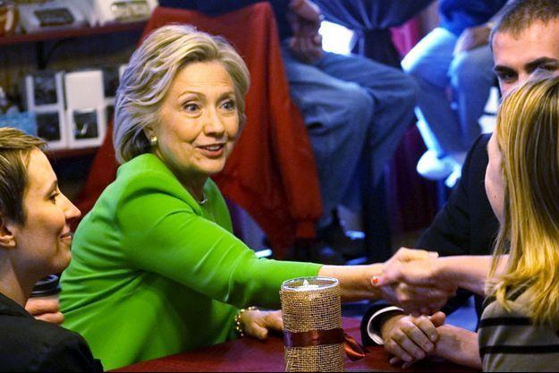 Hillary Clinton en pleine campagne en Iowa.