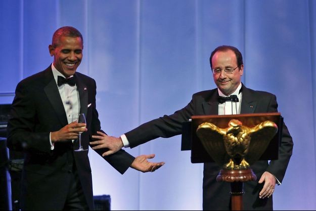 Barack Obama et François Hollande, mardi soir lors du dîner d'Etat.