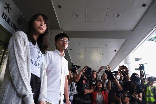 Joshua Wong et Agnes Chow, le 30, août 2020.