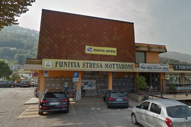 Station du téléphérique à Stresa en Italie.