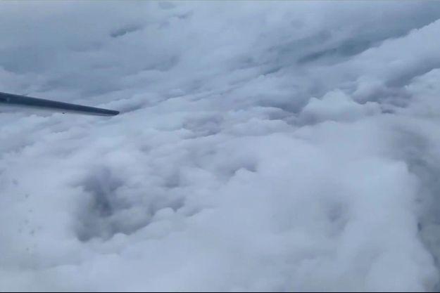Dans l'oeil de l'ouragan Humberto.