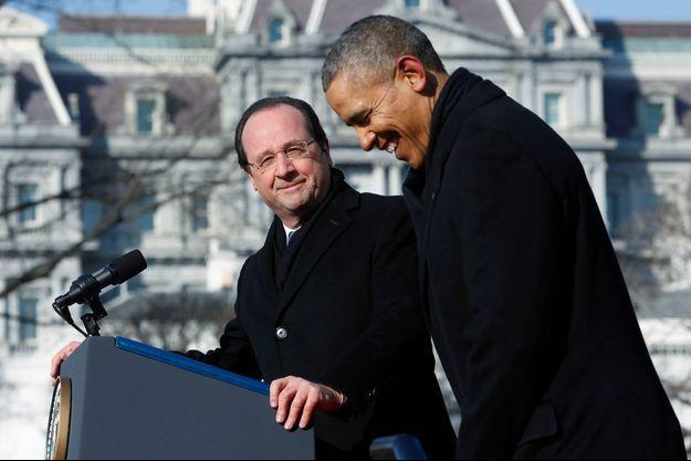 François Hollande et Barack Obama, mardi matin.