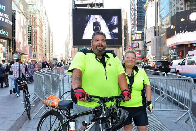 Eric Hites et sa femme Angie à New York.