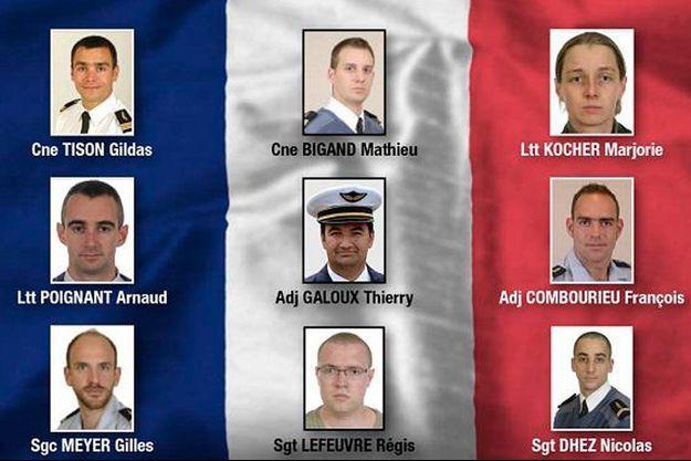 Les neuf victimes françaises du crash d'Albacete
