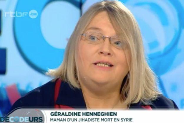 Géraldine Henneghien a été inculpée pour avoir envoyé de l'argent à son fils.