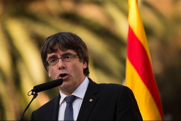 Le président séparatiste catalan Carles Puigdemont le 15 octobre 2017.
