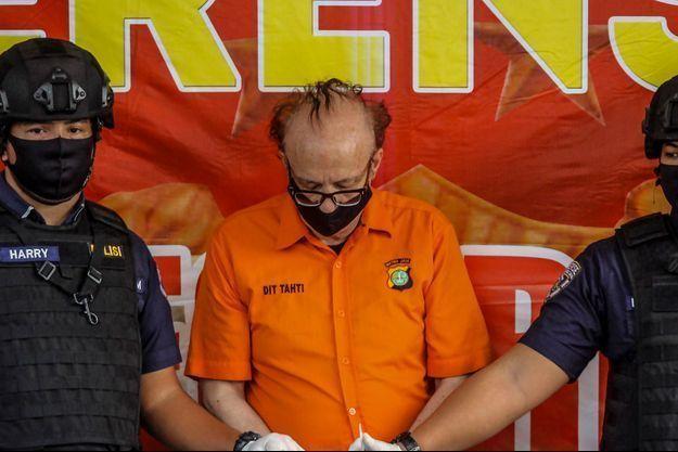 L'homme arrêté en Indonésie, le 9 juillet 2020.