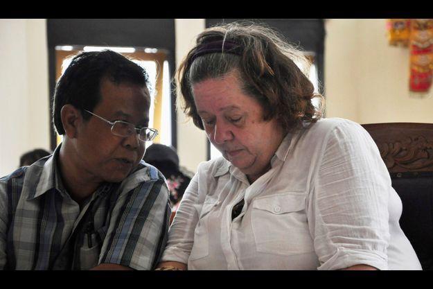 Lindsay Sandiford a appris ce mardi le verdict, grâce à l'intervention d'un traducteur.
