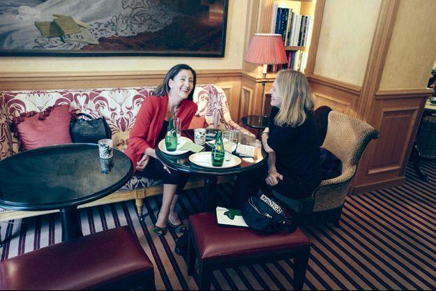 Ingrid Betancourt avec notre journaliste, Dany Jucaud.