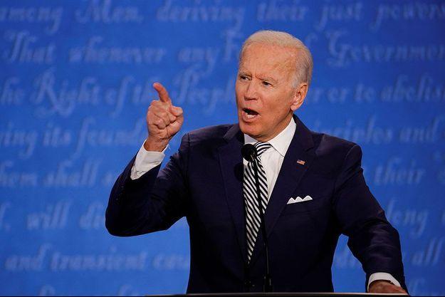 Joe Biden à Cleveland, mardi soir, pendant le premier débat présidentiel de la campagne aux Etats-Unis.