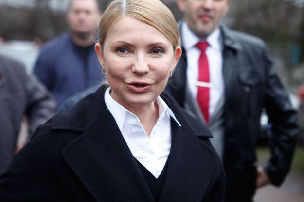Ioulia Timochenko lors d'un entretien à Paris Match le dimanche 13 avril 2014 à Melnyky, au centre de l'Ukraine, en marge d'une rencontre chez les cosaques lors de sa campagne électorale.