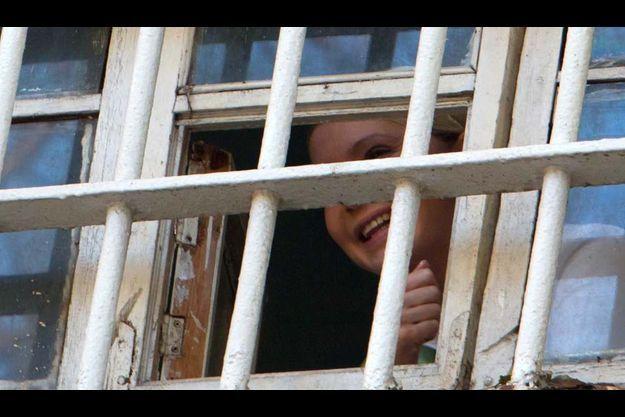 Ioulia Timoshenko, derrière les barreaux de sa cellule.