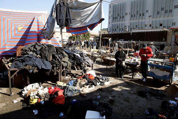 Le marché de vêtements d'occasion de la place Tayaran avait déjà été l'objet d'un attentat en 2018.