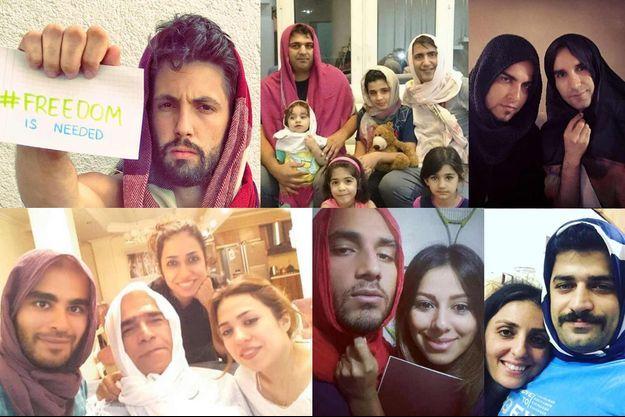 Plusieurs photos de personnes ayant participé à la campagne #MenInHijab.