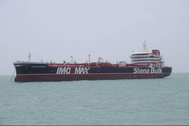 Le Stena Impero est bloqué au port iranien de Bandar Abbas.