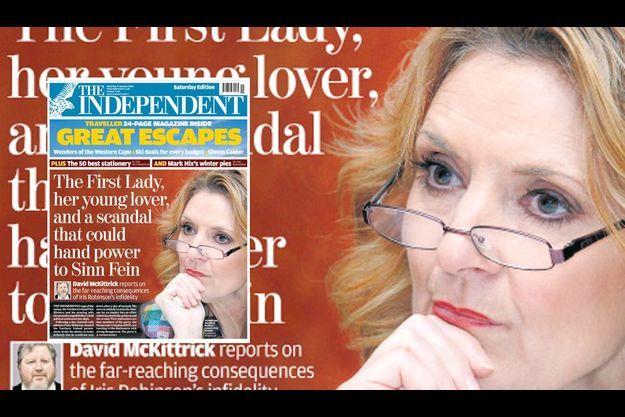 L'affaire Iris Robinson a fait les gros titres de la presse anglo-saxonne.