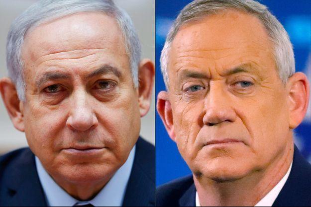 Benjamin Netanyahu et Benny Gantz.