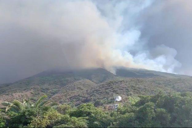 L'éruption du volcan Stromboli, le 3 juillet.