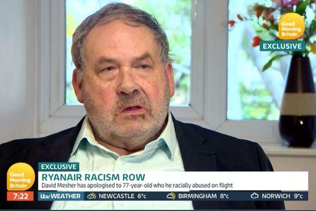 David Mesher s'est expliqué sur ses injures racistes