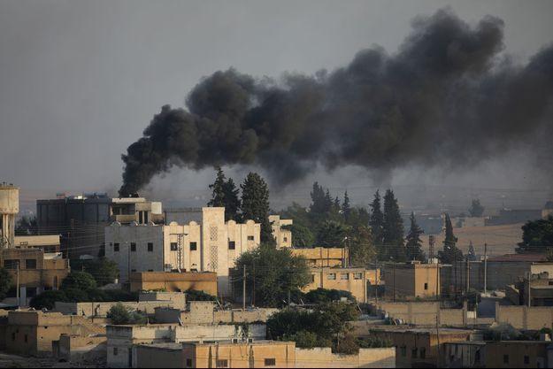 Tel Abyad, la ville turque à la bordure syrienne bombardée le 13 octobre 2019.