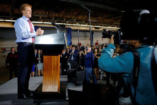 Joe Kennedy III à Fall River (Massachusetts), d'où il a répondu au discours de Donald Trump, le 30 janvier.