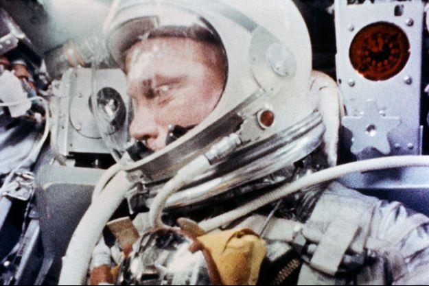 John Glenn durant la mission Mercury-Atlas en 1962.