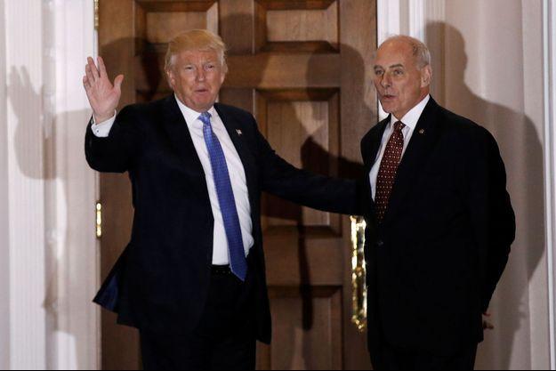 Donald Trump et John Kelly, le 20 novembre dernier.